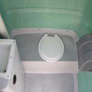 Open Closet Chemical Toilet hire melbourne