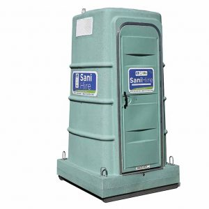 fresh water flush portable toilet hire